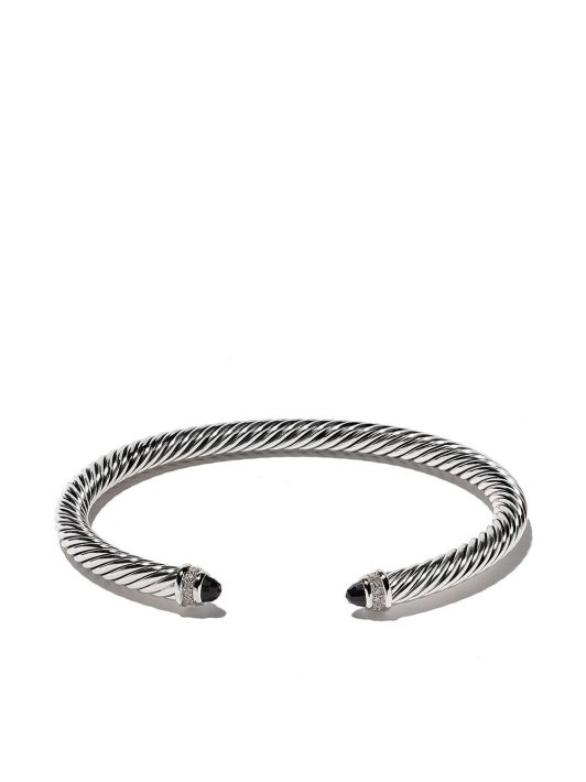 David Yurman Cable' Armspange aus Sterlingsilber mit Diamanten - SSABODI