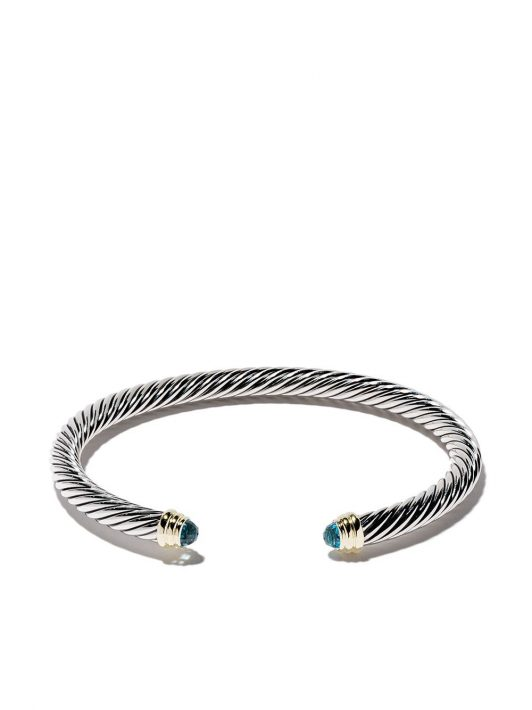 David Yurman 'Cable' Armspange aus Sterlingsilber mit Topaz - S4ABT