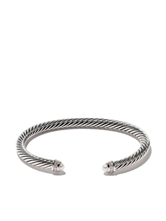 David Yurman Cable' Armspange mit Diamanten und Perlen - SSDPEDI