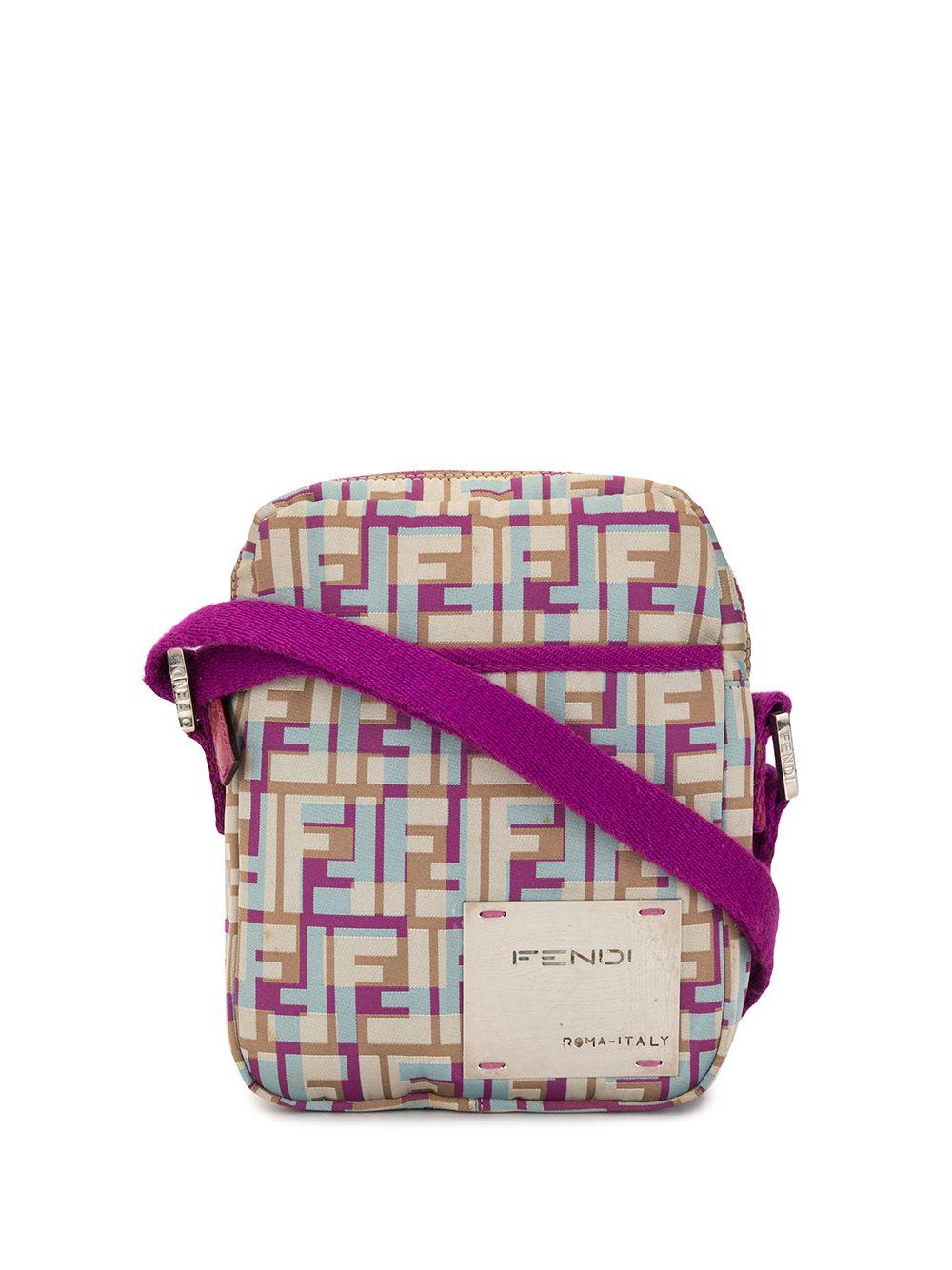 Fendi Pre-Owned Umhängetasche mit Zucca-Muster - Violett
