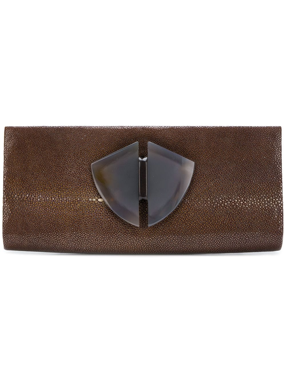 Giorgio Armani Pre-Owned Clutch in Kuvertform - Braun