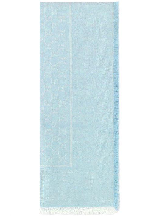 Gucci Jacquard-Schal mit GG-Muster - Blau