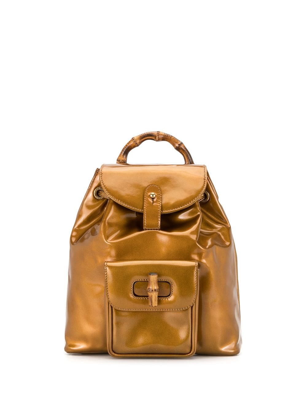 Gucci Pre-Owned Bamboo Rucksack - Gold