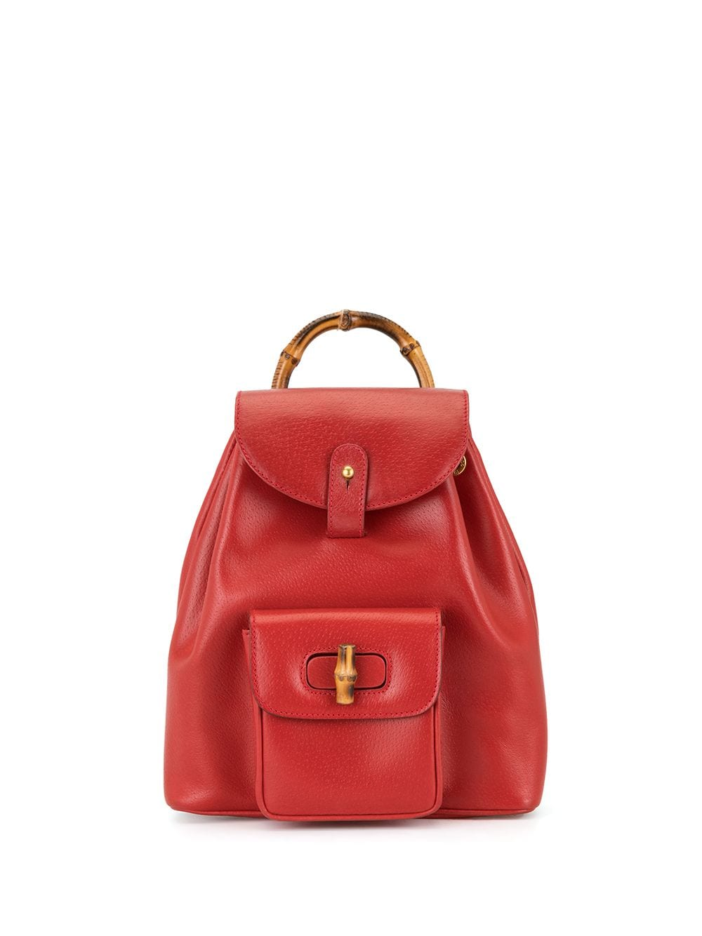 Gucci Pre-Owned Rucksack mit Bambusdetail - Rot