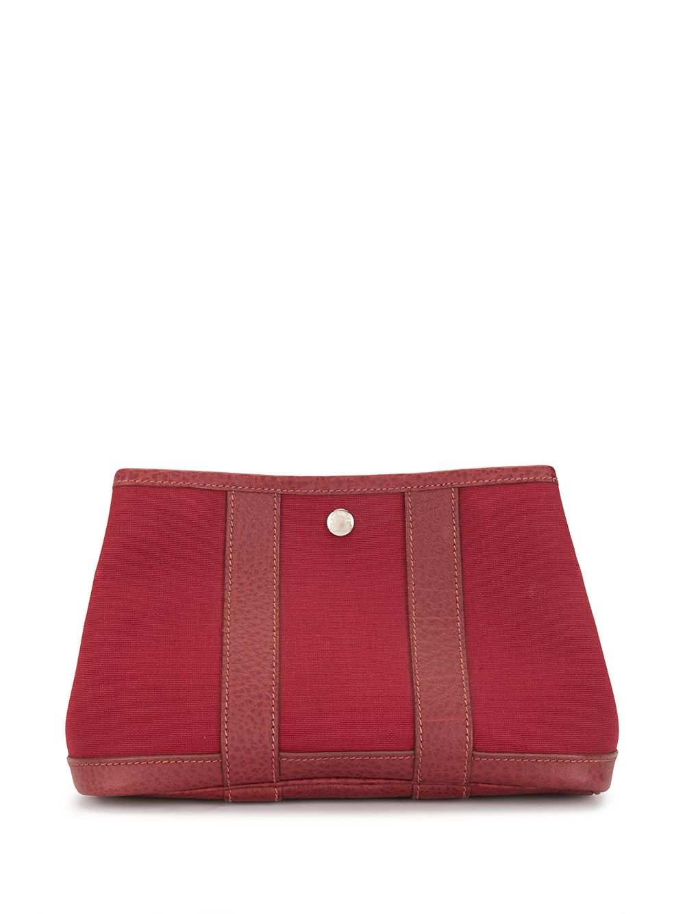 Hermès 2008 pre-owned Garden Party Clutch - Rot