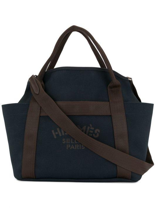 Hermès 2018 pre-owned Pansage Broom Reisetasche - Blau