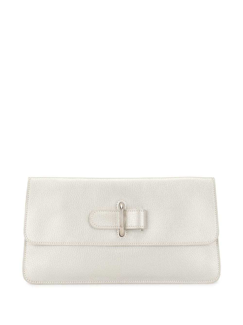 Hermès Pre-owned Clutch mit Schnalle - Silber