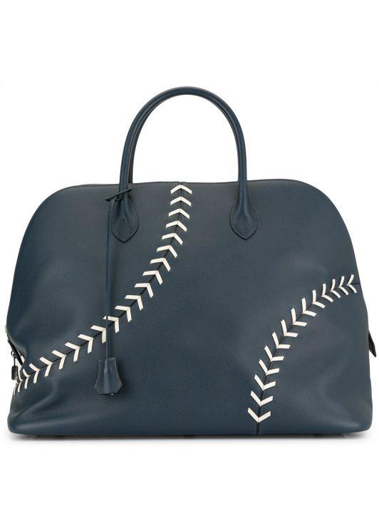 Hermès Pre-owned Reisetasche im Baseball-Look - Blau