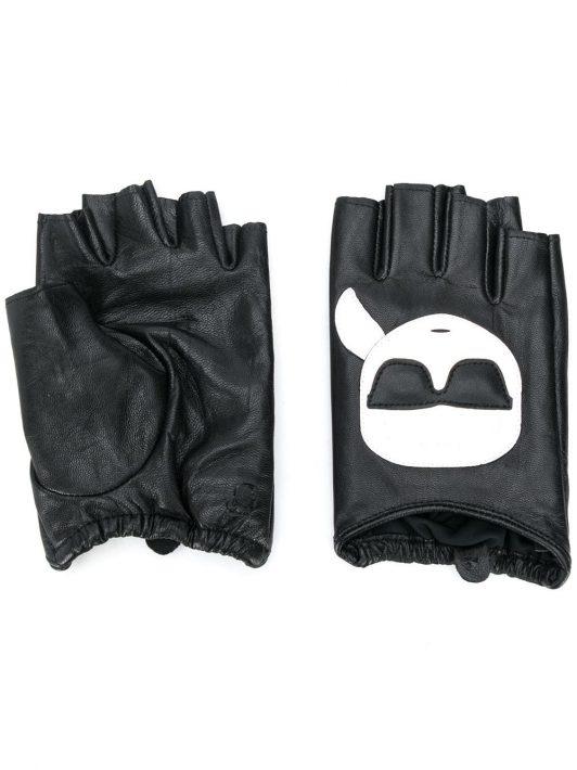 Karl Lagerfeld Fingerlose Handschuhe - Schwarz