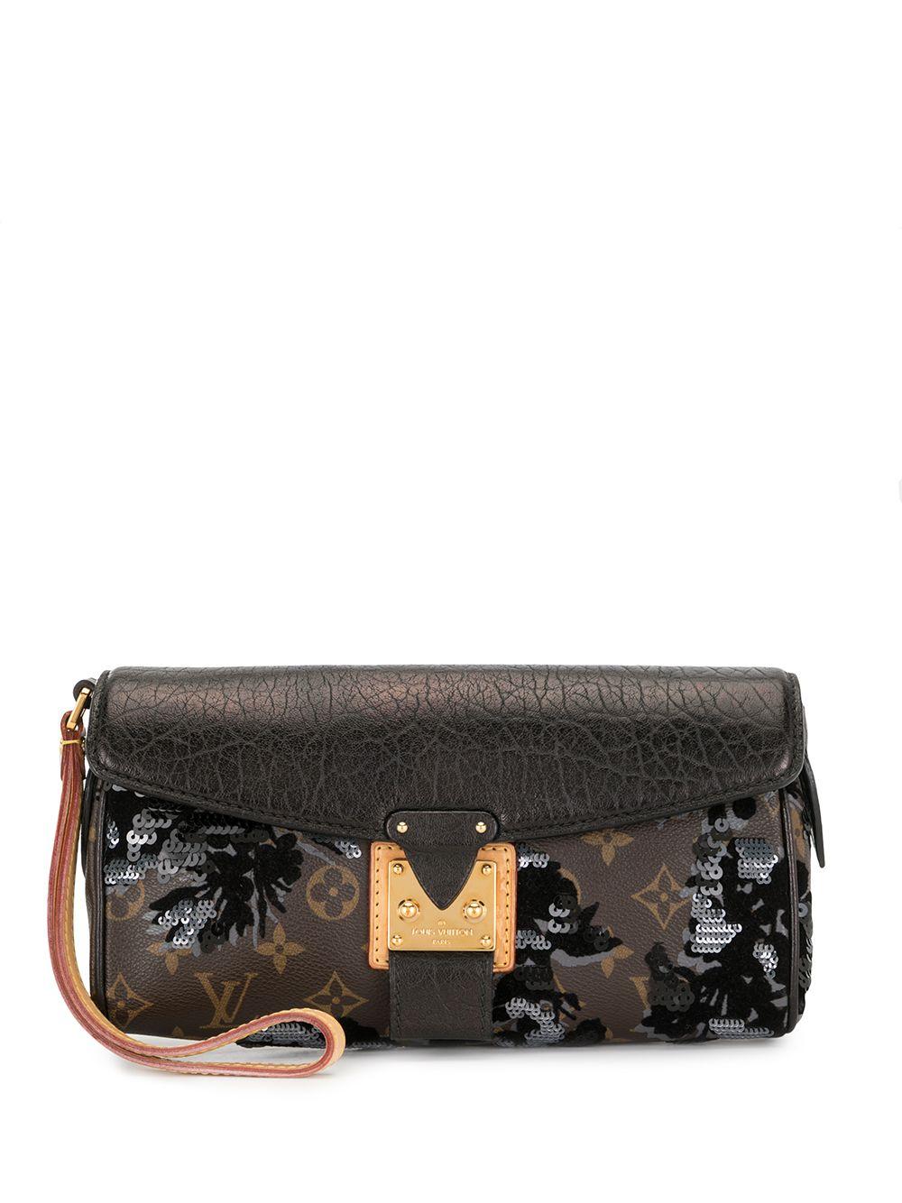 Louis Vuitton 2010s pre-owned Fleur De Jais Manege Clutch - Schwarz