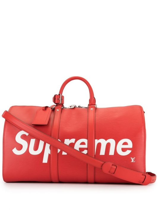 Louis Vuitton Pre-owned Louis Vuitton x Supreme Keepall Bandoulière Reisetasche, 45cm - Rot