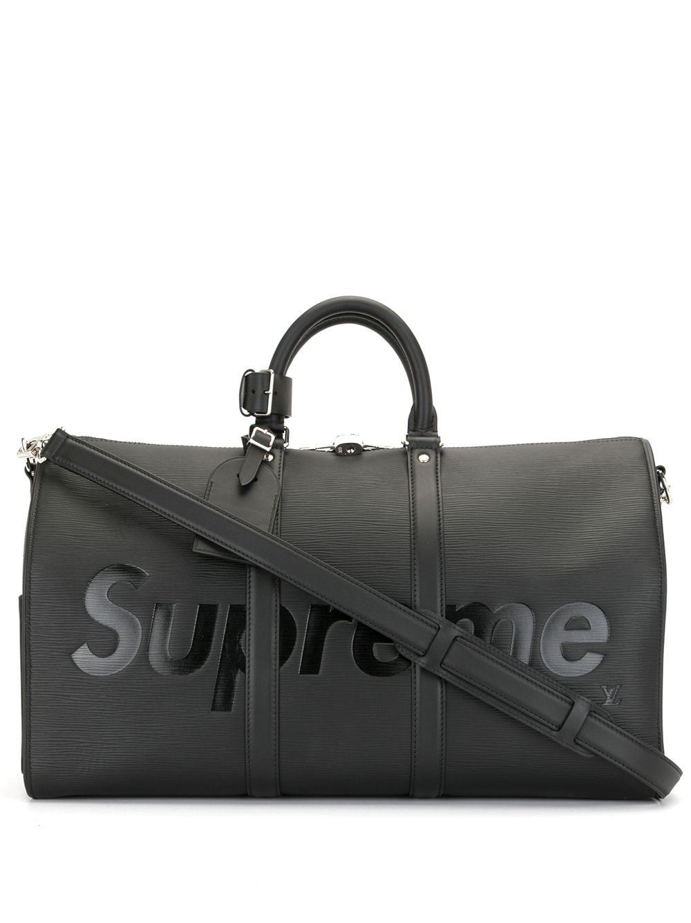 Louis Vuitton x Supreme 2017 pre-owned Epi Keepall Bandouliere Reisetasche - Schwarz