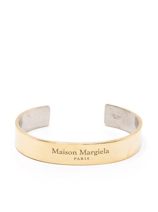Maison Margiela Armspange mit Logo - Gold