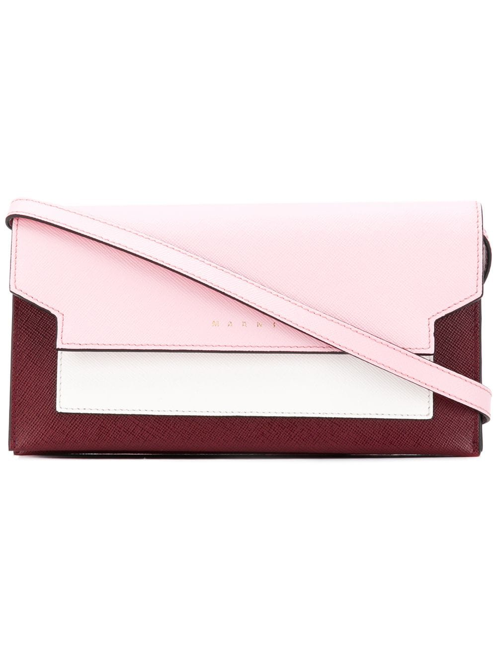 Marni Dreifarbiges Portemonnaie - Rosa