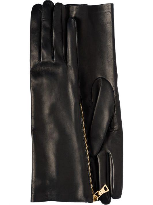 Prada Handschuhe mit Reißverschluss - Schwarz