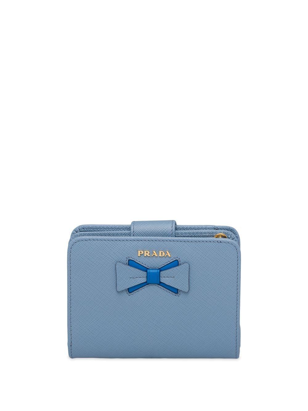 Prada Saffiano-Portemonnaie - Blau