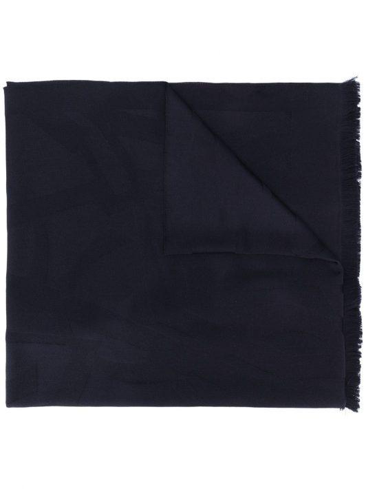 Saint Laurent Schal mit Monogramm - Blau