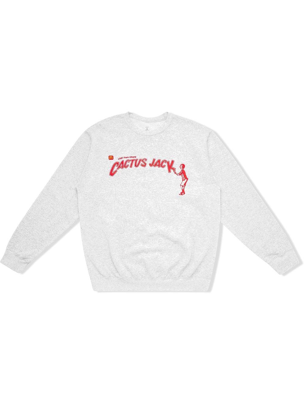 Travis Scott Astroworld x McDonald's Cactus Jack Spelling Sweatshirt - Grau