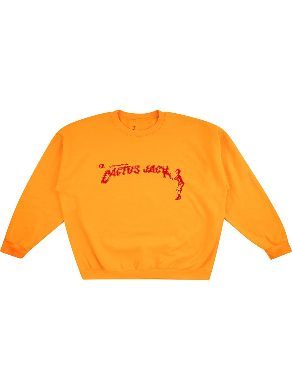 Travis Scott Astroworld x McDonald's Cactus Jack Spelling sweatshirt - Gelb