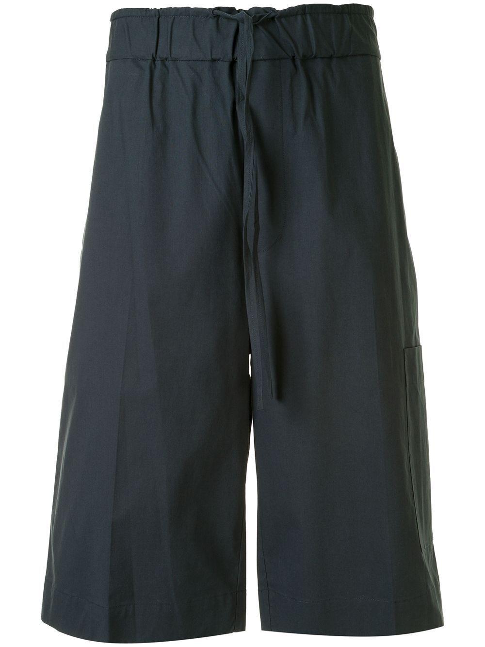 3.1 Phillip Lim Popeline-Shorts mit Stretchbund - Blau