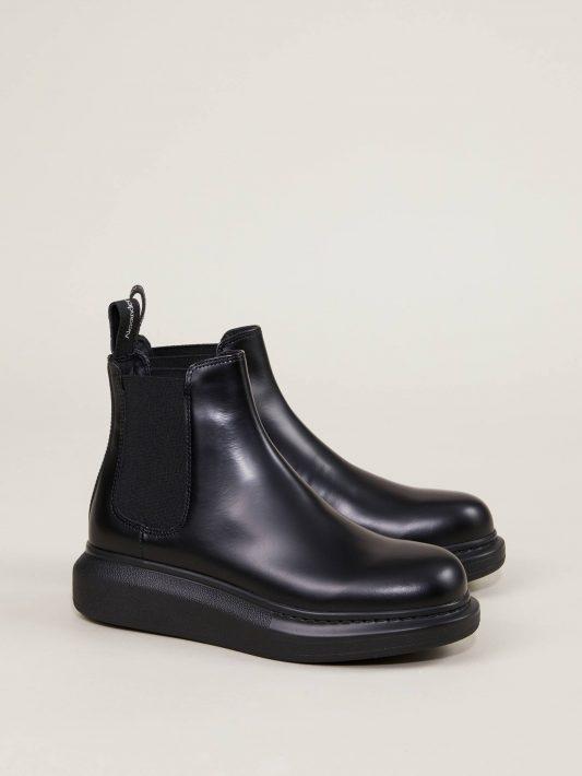 Alexander McQueen - Chelsea Boots Schwarz