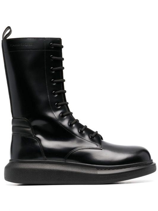 Alexander McQueen Hybrid mid-calf boots - Schwarz
