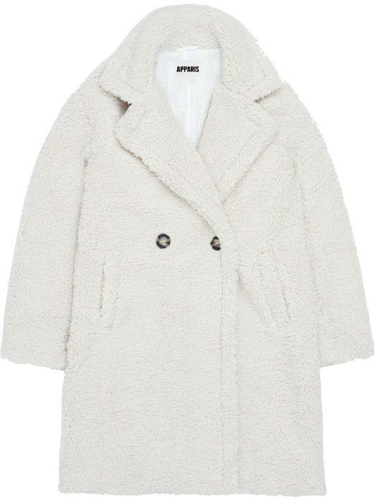 Apparis 'Anouck' Mantel aus Faux Shearling - Weiß