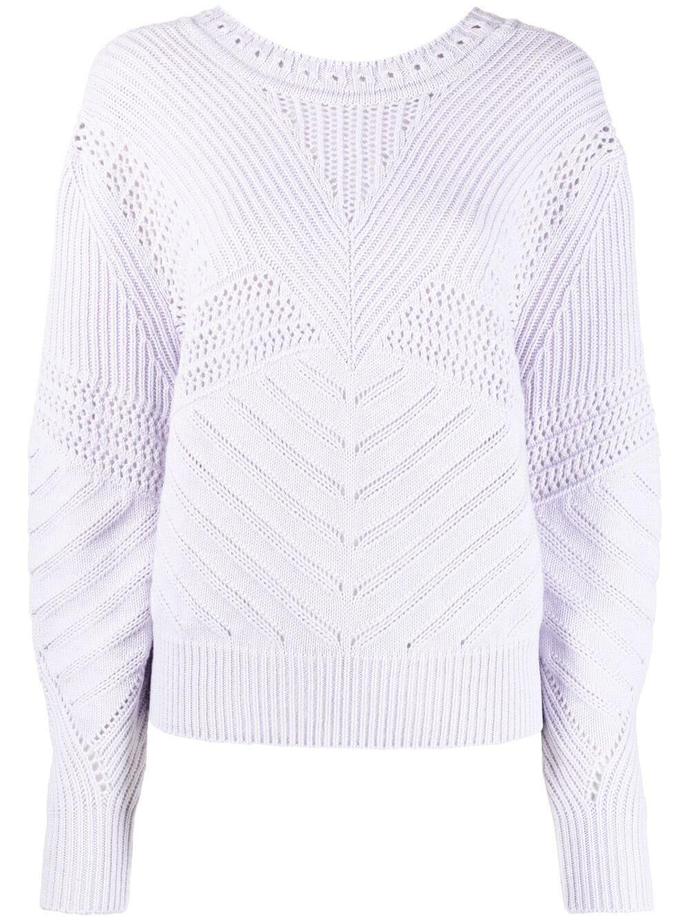 Barrie open-knit detailed jumper - Violett