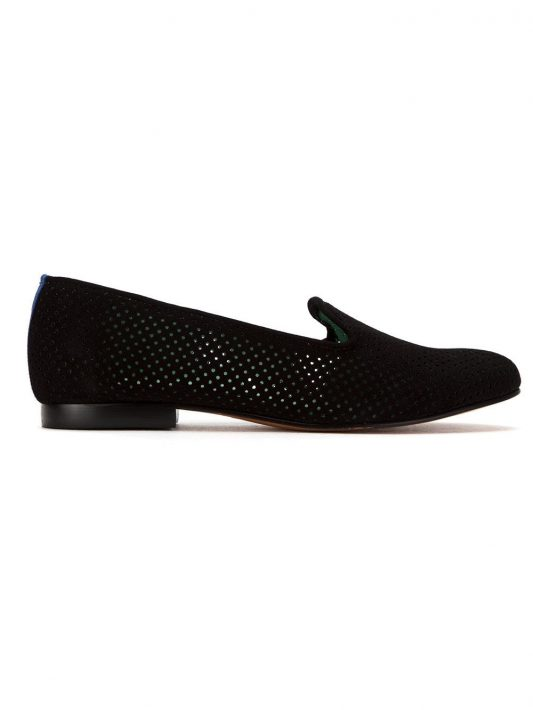 Blue Bird Shoes Perforierte Loafer - Schwarz