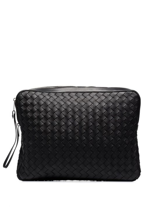 Bottega Veneta Intrecciato document case - Schwarz