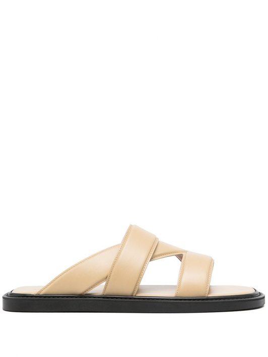Bottega Veneta cut-out detail open-toe sandals - Braun
