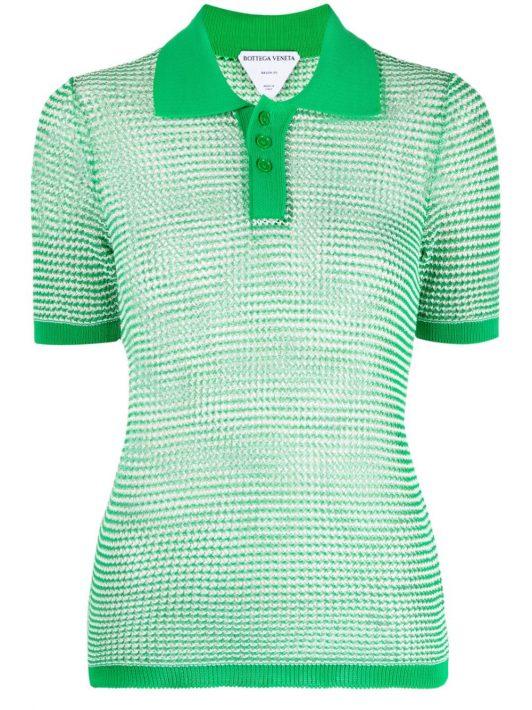 Bottega Veneta knitted polo shirt - Grün