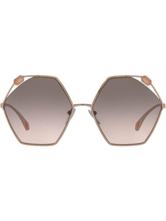 Bvlgari oversized hexagon frame sunglasses - Rosa