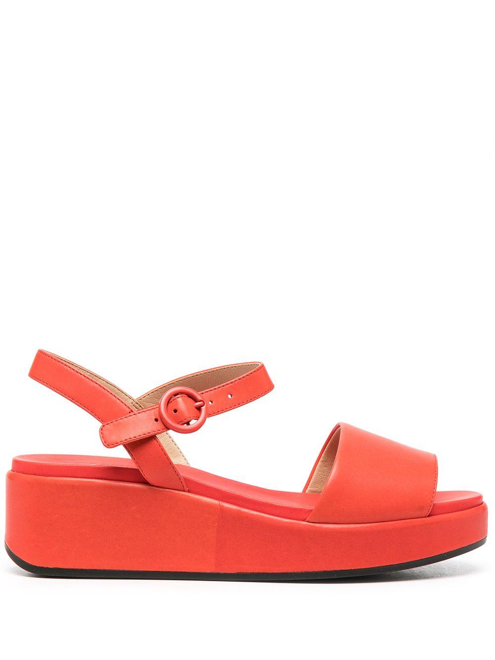 Camper 'Misia' Sandalen mit Knöchelriemen - Rot