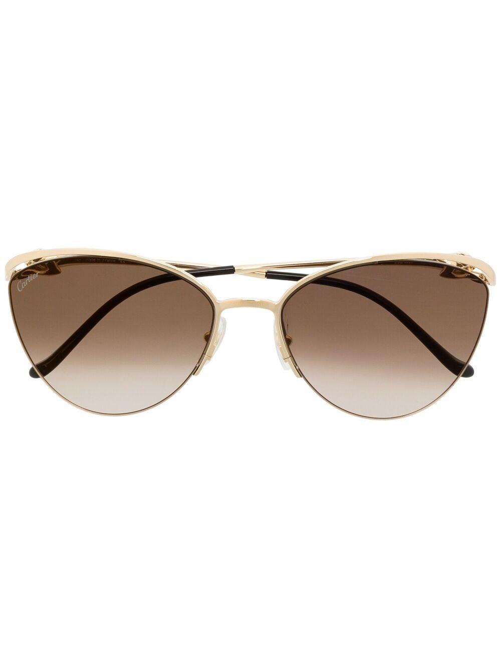 Cartier Eyewear Sonnenbrille mit Farbverlauf-Gläser - Braun