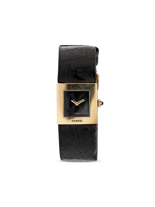 Chanel Pre-Owned 1990s pre-owned Quartz 19mm - Schwarz