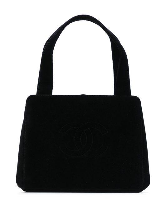 Chanel Pre-Owned 1998 Shopper mit CC-Logo - Schwarz