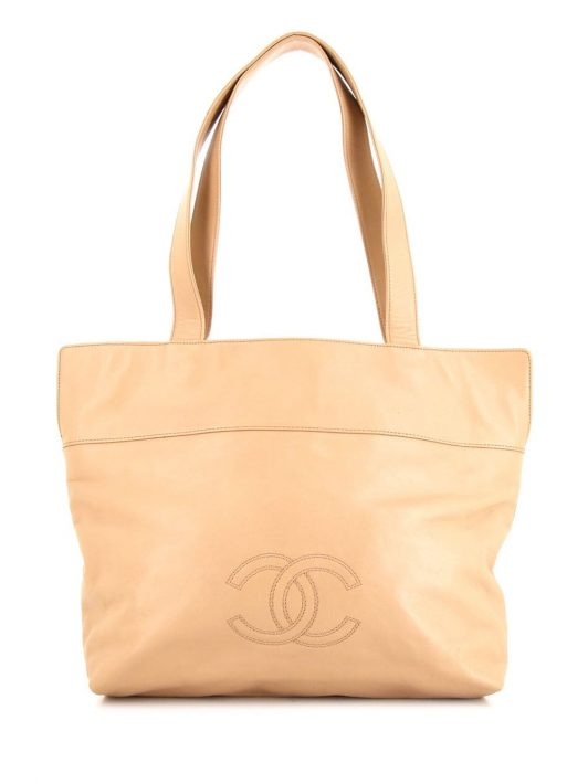 Chanel Pre-Owned 1999 Shopper mit CC - Nude