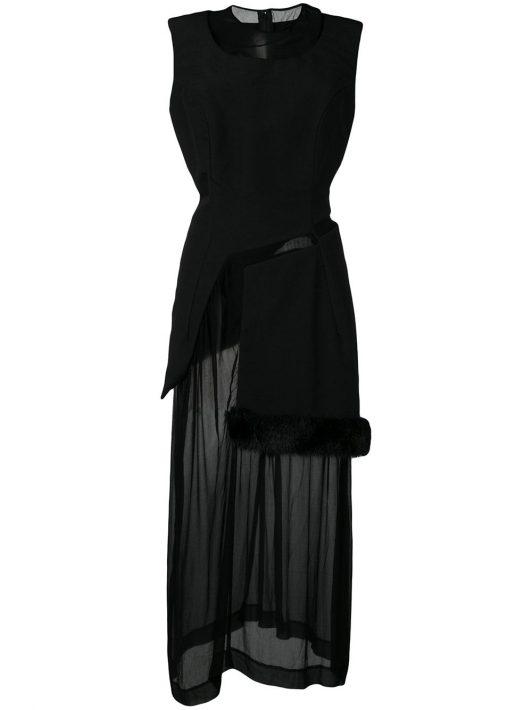 Comme Des Garçons Pre-Owned 1997 Kleid mit Sheer-Effekt - Schwarz