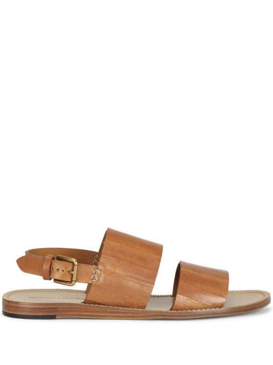 Dolce & Gabbana Sandalen mit Schnalle - Braun