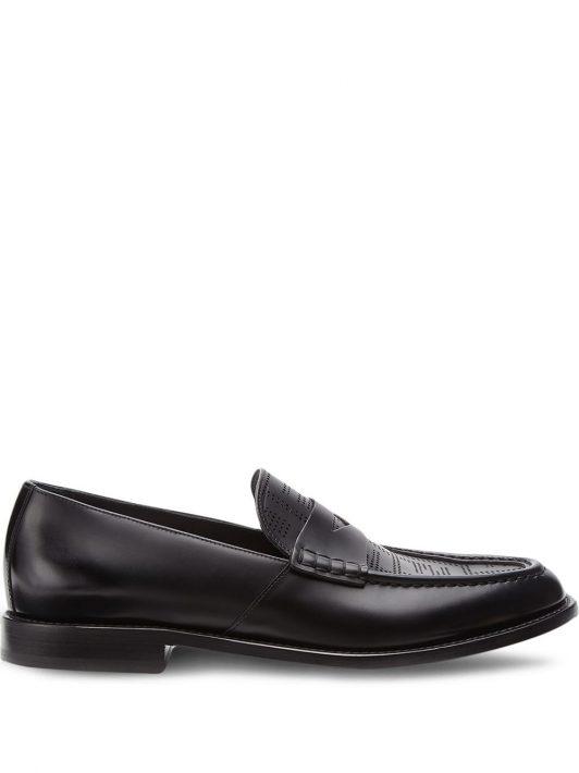 Fendi Loafer mit perforiertem FF-Muster - Schwarz