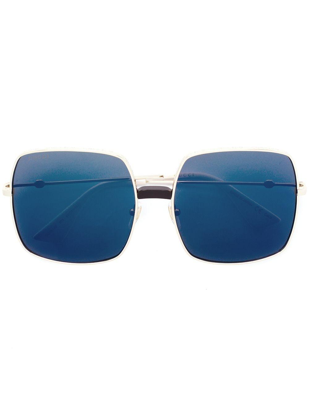 Gucci Eyewear Oversized-Sonnenbrille - Metallisch