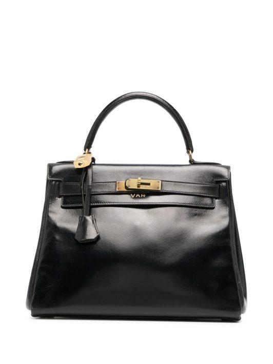 Hermès 1959 pre-owned Kelly Handtasche 28cm - Schwarz