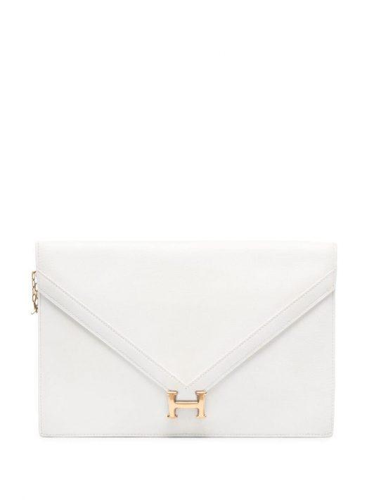 Hermès 1975 pre-owned H clutch bag - Weiß