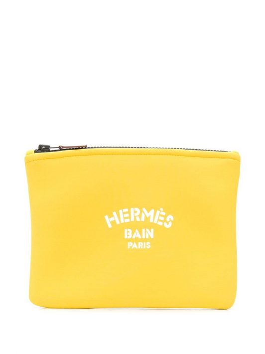 Hermès 2019 pre-owned Les Bain Clutch - Gelb