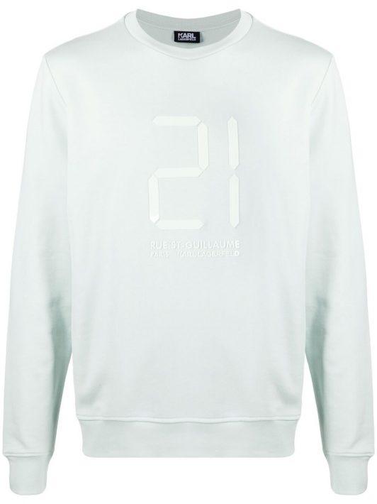 Karl Lagerfeld Sweatshirt mit 21-Print - Grün