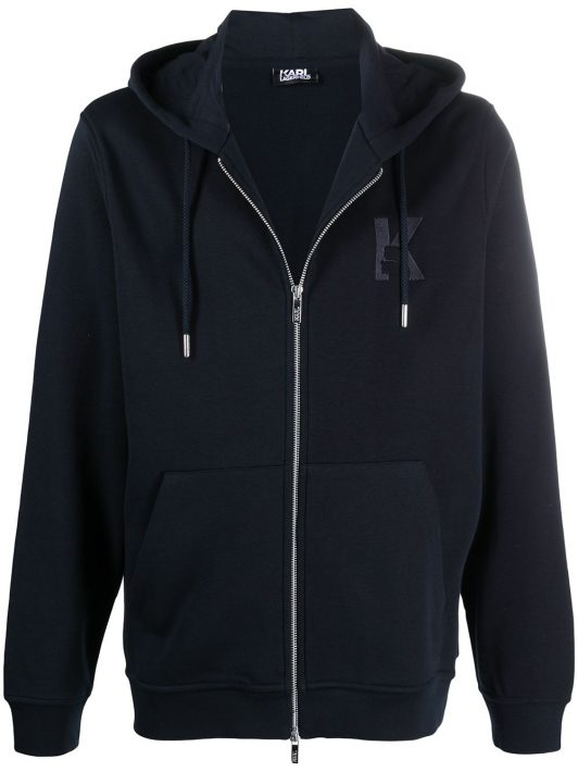 Karl Lagerfeld Sweatshirt mit Logo-Stickerei - Blau