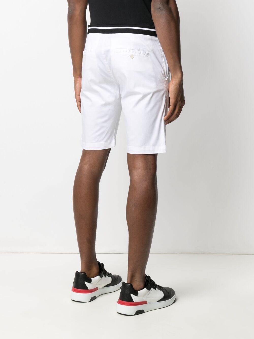 Karl Lagerfeld ribbed trim shorts - Weiß