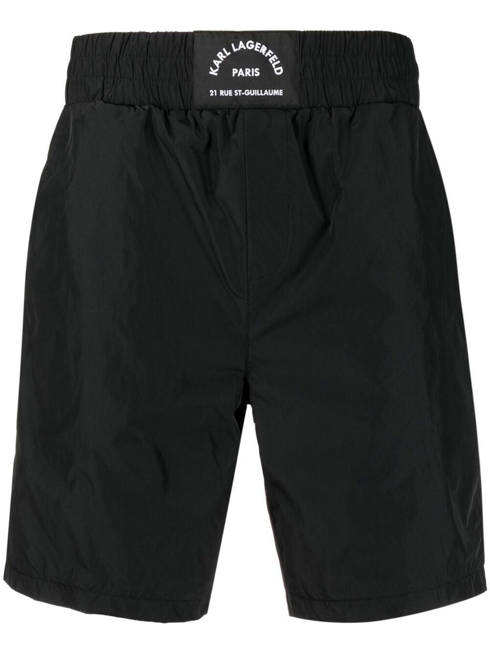Karl Lagerfeld shell shorts - Schwarz