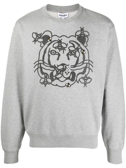 Kenzo Bee A Tiger Sweatshirt - Grau
